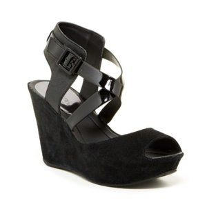 Kenneth Cole Reaction Sole Star Black Wedge Sandal